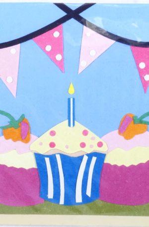 Grußkarte – Geburtstag – Cupcakes