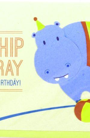 Grußkarte – Geburtstag – Hippo Hooray