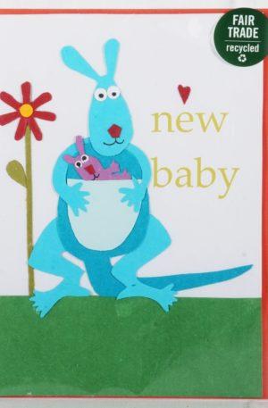 Grußkarte – Geburt – Kangaroo Congrats