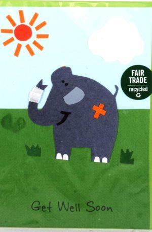 Grußkarte – Genesung – Get Well Elephant