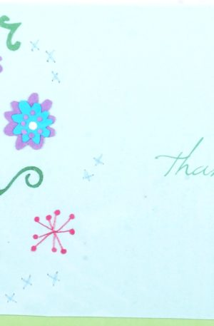 Grußkarte – Danksagung – Flowered Thanks