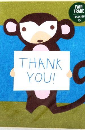 Grußkarte – Danksagung – Monkey Thanks