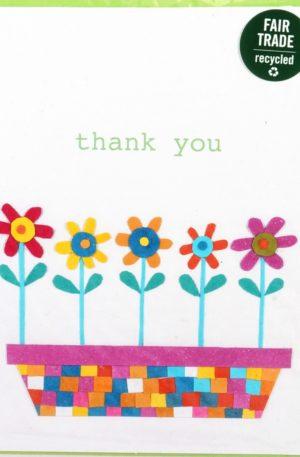 Grußkarte – Danksagung – Flower Bed