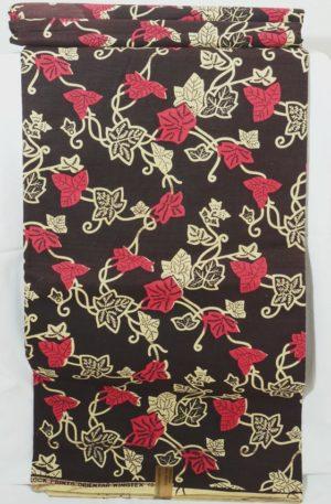Wax Print – Pink Leaves (13,00 EUR / m)
