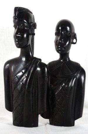 Maasai-Paar – groß – aus Hartholz