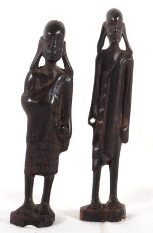 Maasai-Paar – klein – aus Hartholz