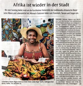 duka dogo an den Afrika-Kultur-Tagen in Forchheim